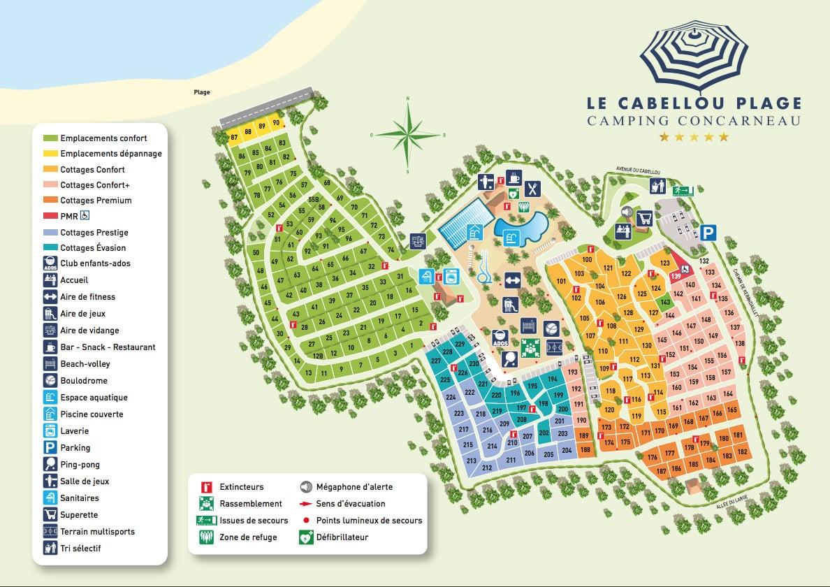plan 2020 camping le cabellou plage