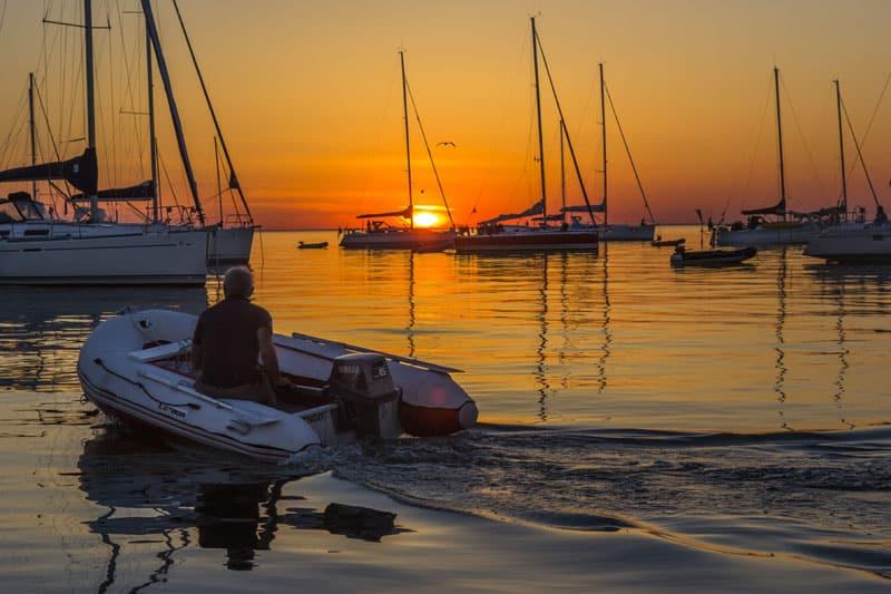 Coucher de soleil archipel des Glénan