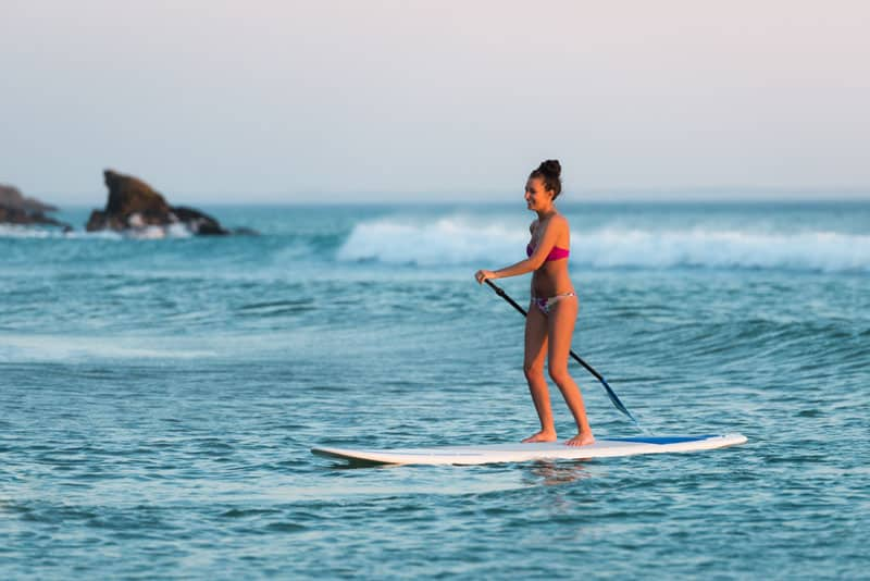 Stand up paddle camping Concarneau