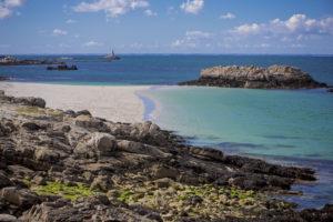 paysages paradisiaque de l'archipel des Glénan Finistère Bretagne
