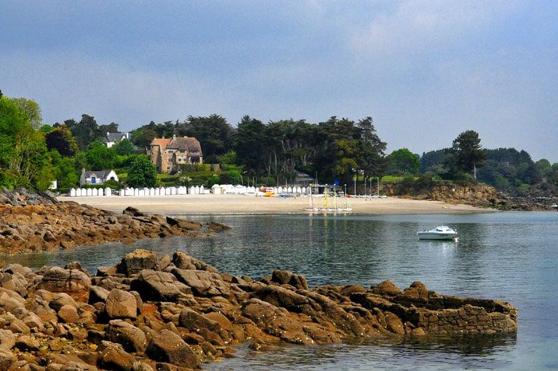 Plage de Port Manec'h Saint Nicolas Camping Finistère Bretagne