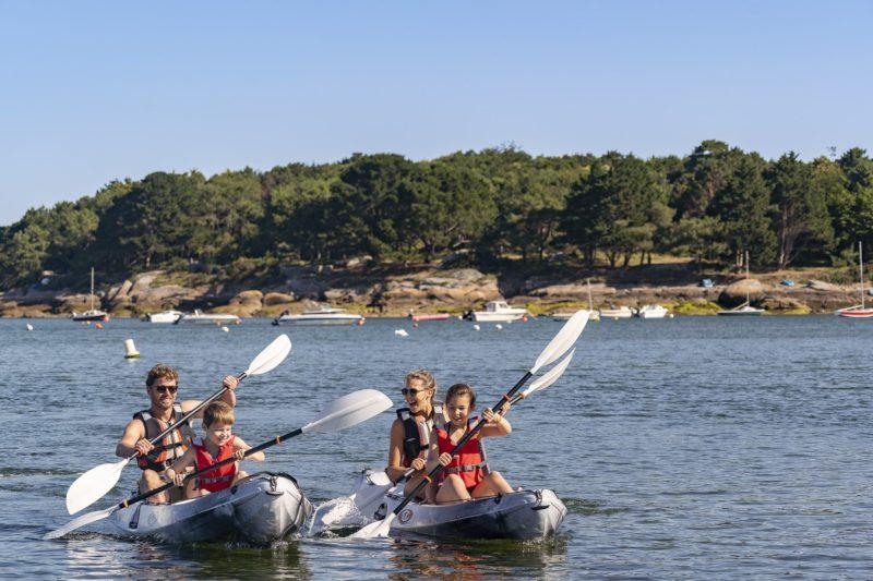 location de kayaks au camping du Cabellou Plage